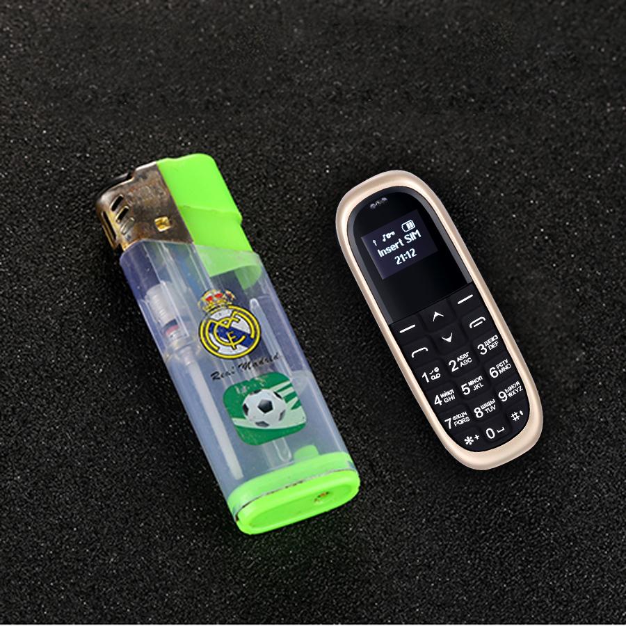 AIEK KK1 0.66 Inch 330mAh bluetooth Dialer Magic Voice Low Radiation Mini Card Phone