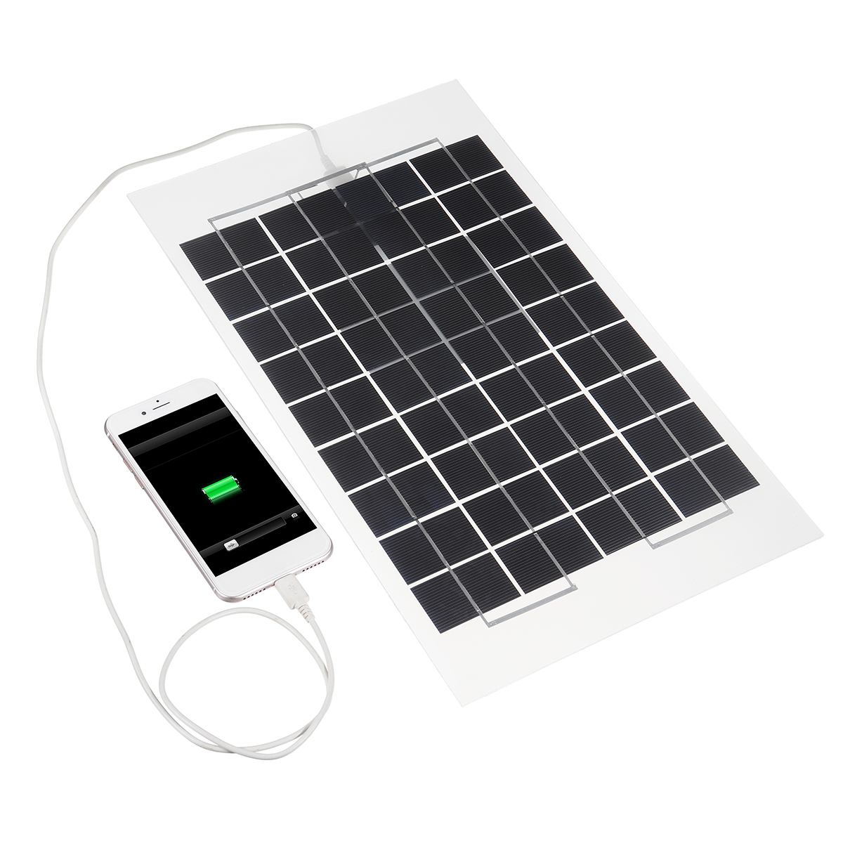 10W 12V Poly A-Class Solar Panel Battery Charger Crocodile Clips for w/ Car Charger