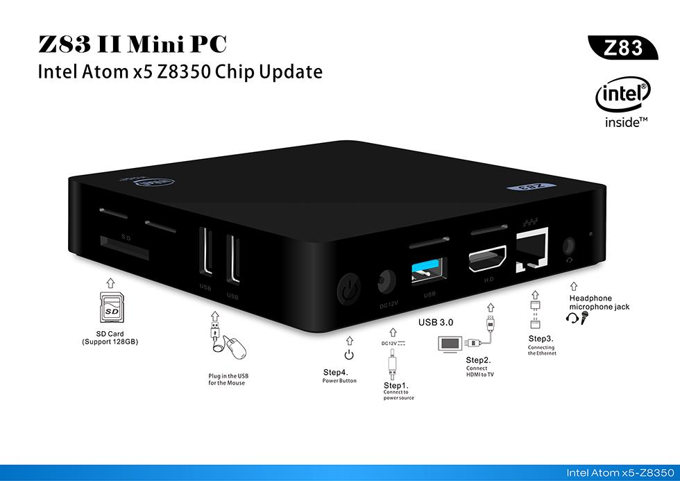 Z83 II Intel Atom x5-Z8350 2GB RAM 32GB ROM TV Box