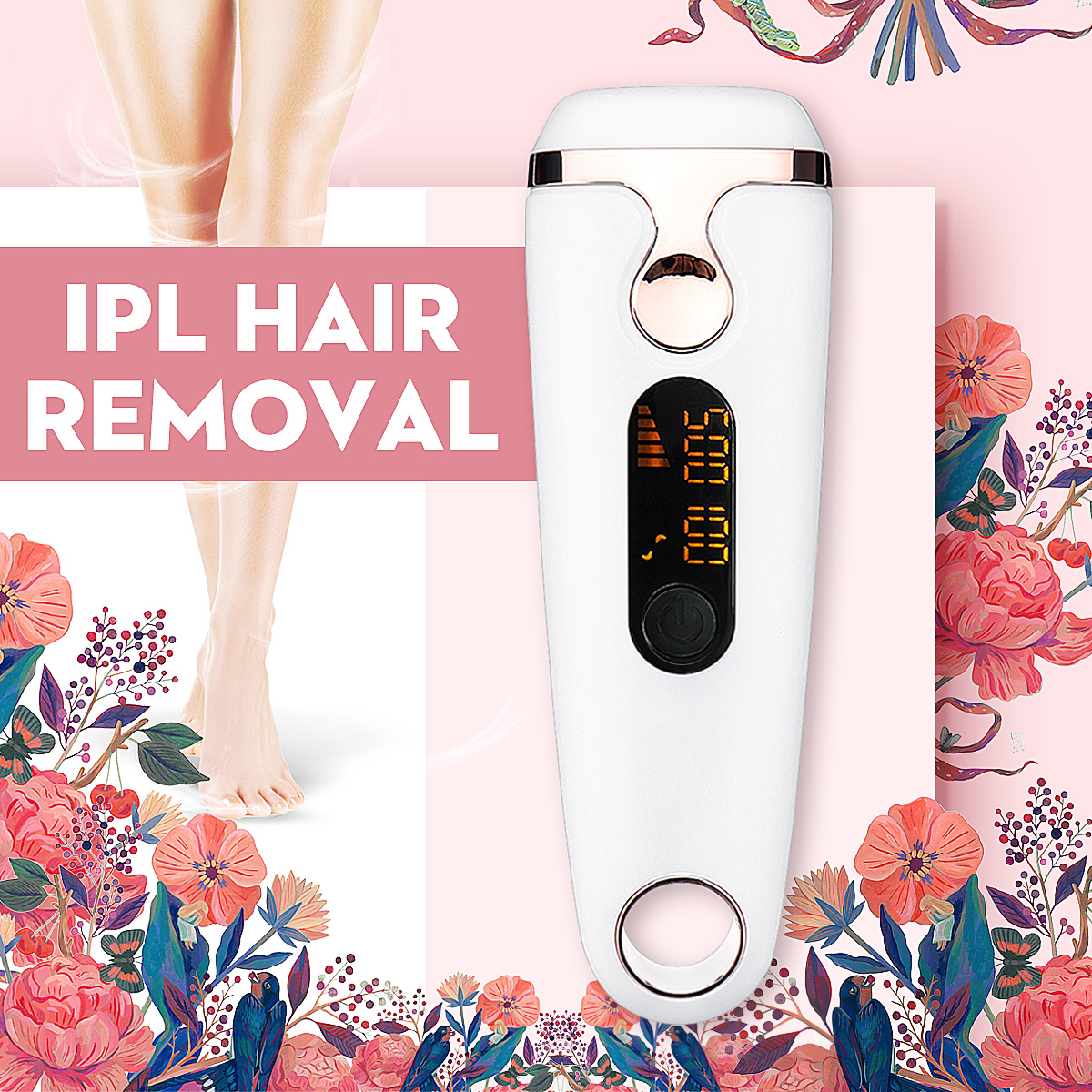 Painless Laser Epilator IPL Permanent Freezing Hair Remover