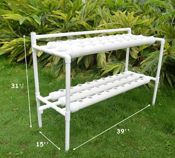 54 Holes Vertical Hydroponic Piping Site Grow Kit Deep Water Culture Vegetable Planting Box System