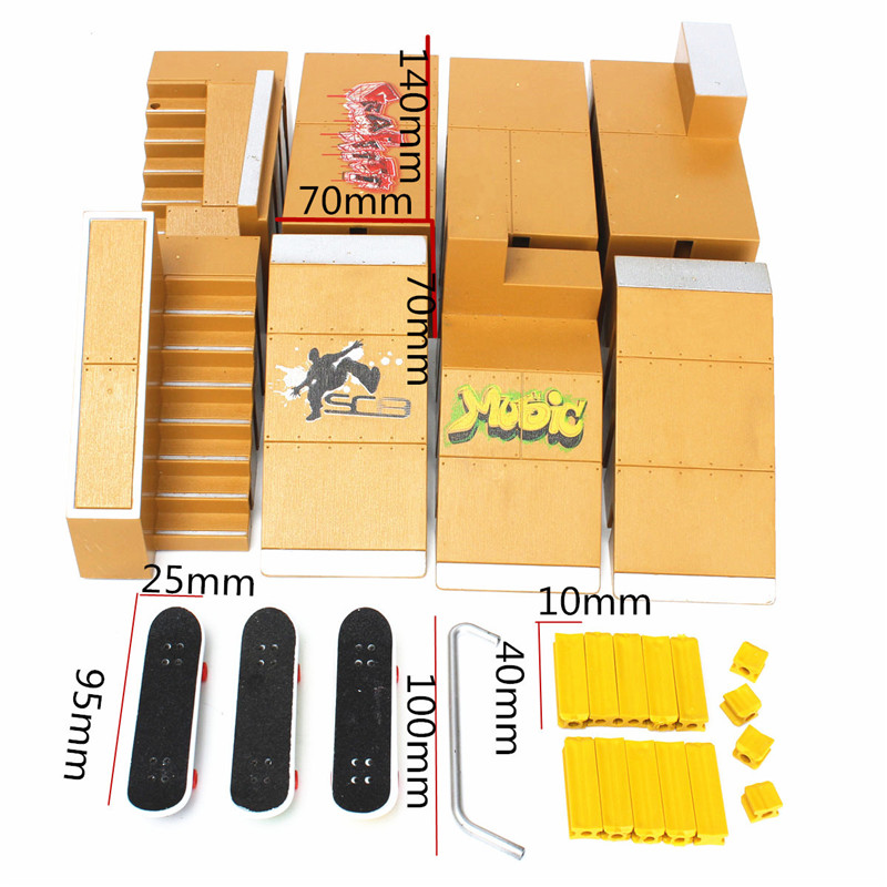 Skate Park Ramp Parts for Tech Deck Finger Board Finger Board Ultimate Parks 92A