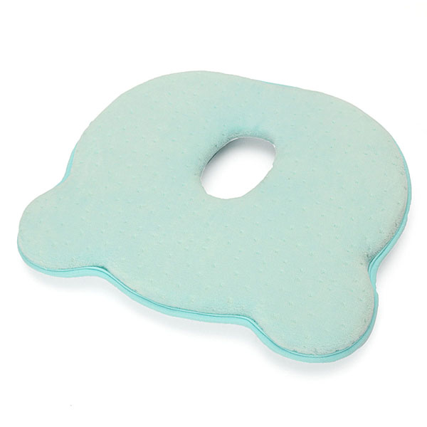 22x26x3.5cm Memory Cotton Newborn Baby Correcting Head Cervical Vertebra Pillow Blue Pink