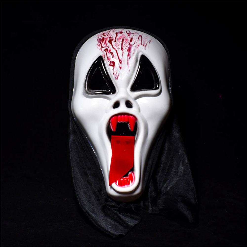 Blood Ghost Face Mask Latex Mask Horrible Mask Halloween Party Supply
