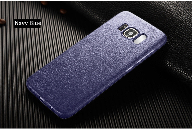 Soft TPU Silicone Ultra Thin Shockproof Leather Skin Back Cover Case for Samsung Galaxy S8
