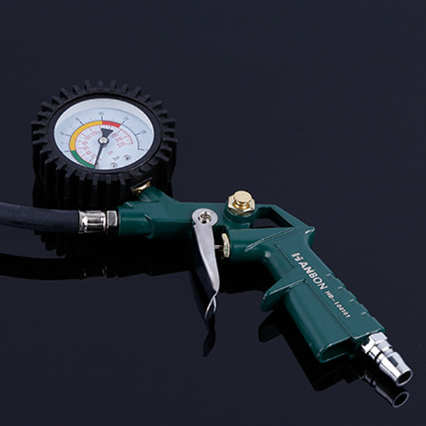 0-220PSI Car Tire Pressure Guage Pneumatic Tire Gun Multifunction Tyre Inflator Tool