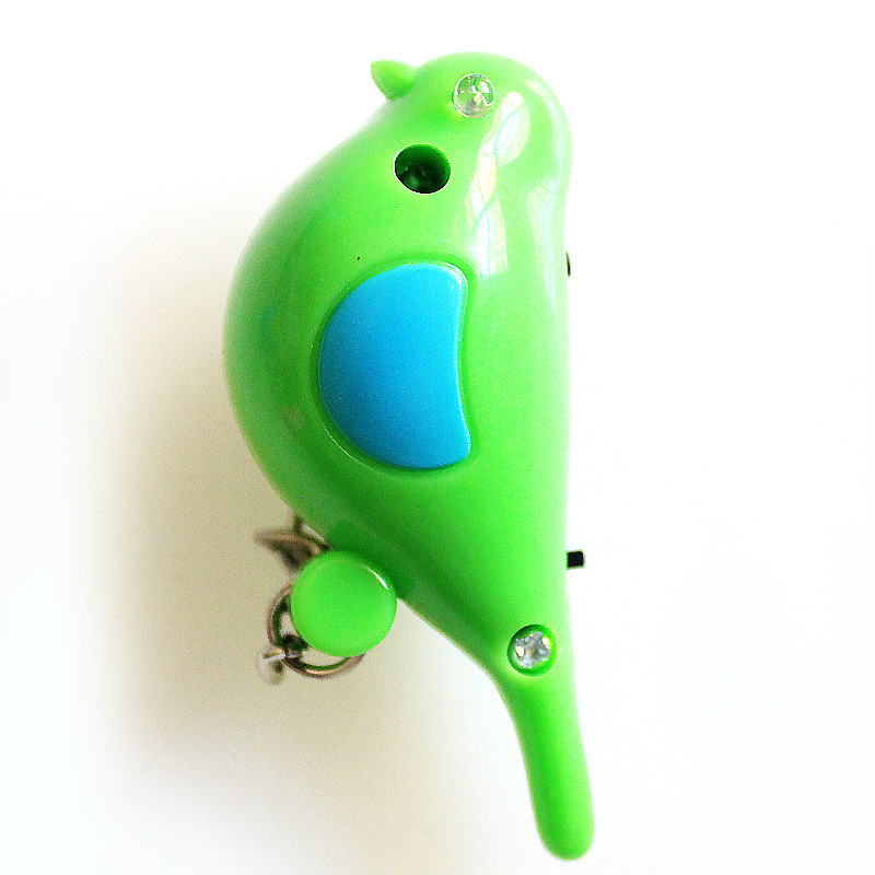 Outdooors Mini Smart Anti Lost Alarm Bird Keychain Whistle With LED light