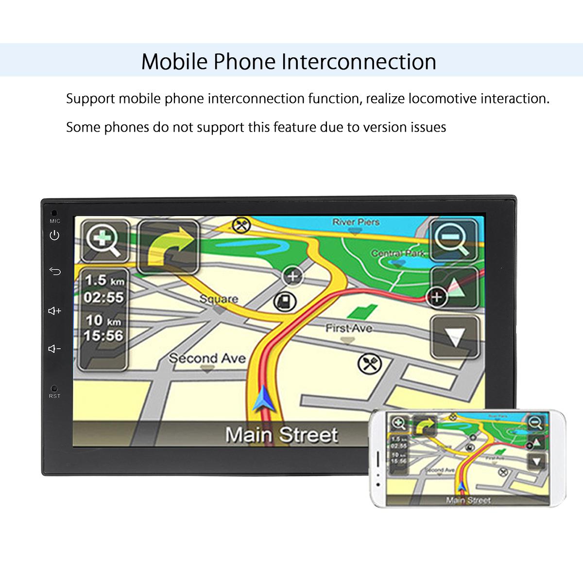 7 Inch Android 6.0 WIFI bluetooth 4.0 GPS Navi 2DIN Car Radio Stereo HD MP5 Player