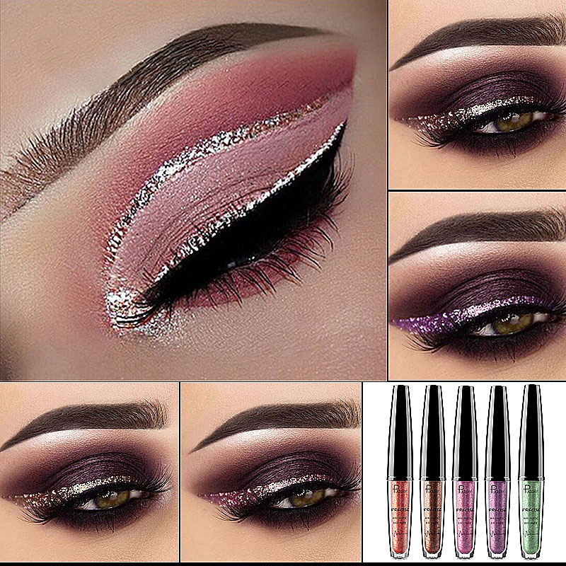 16 Color Metallic Shimmy Eyeliner Eye Shadow
