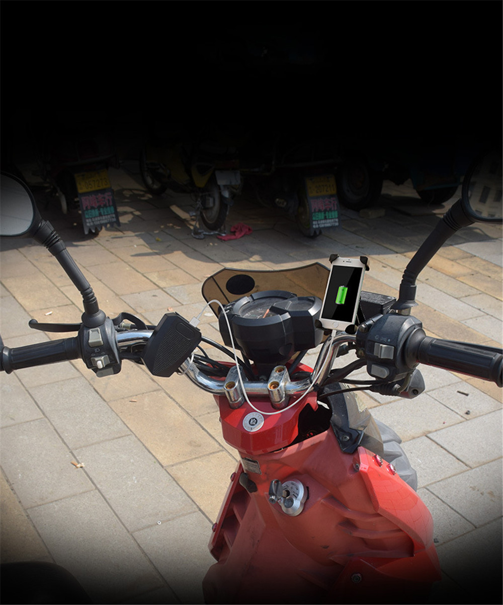 Motorcycle Scooter 12-48V Waterproof USB Charger With Blue Tooth Audio Speaker Player