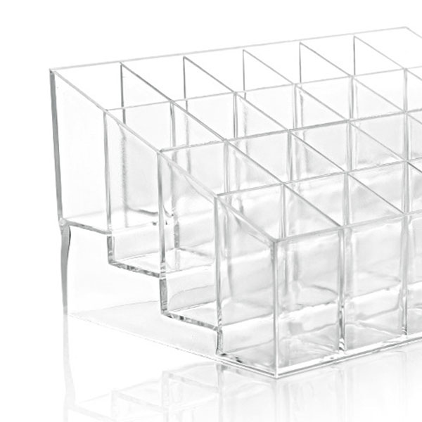 24 Lipstick Holder Display Stand Clear Acrylic Makeup Organizer Sundry Transparent Storge Boxes