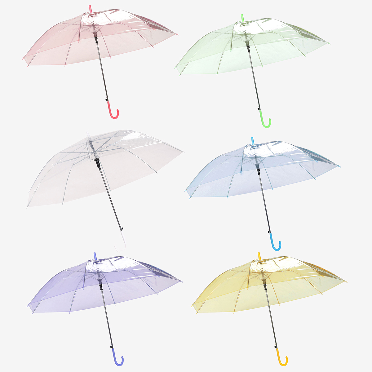 Colorful Transparent Automatic Rain Umbrella Dome Wedding Party Favor Waterproof Umbrella