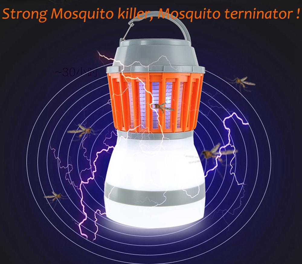 ARILUX® Portable USB Charging / Solar Power LED Mosquito Killer Camping Light Waterproof Emergency