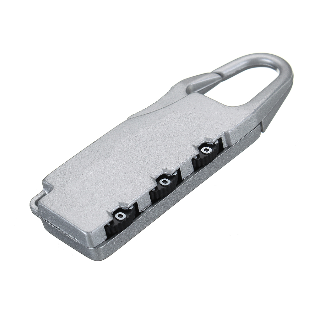 3 Digit Combination Padlock Security Anti-Theft Suitcase Luggage Bag Toolbox Coded Travel Lock