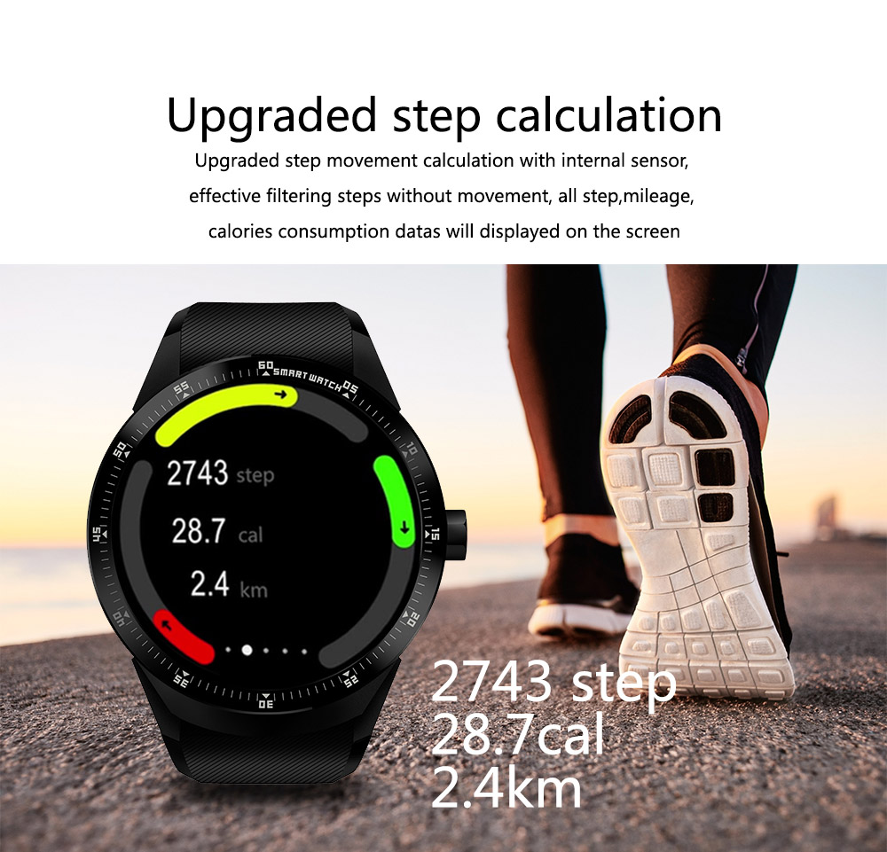 KALOAD MF25 RAM 512MB ROM 4G WIFI GPS Heart Rate Monitor Smart Watch Phone