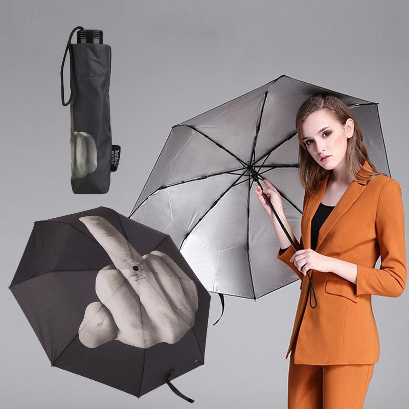 Creative Cool Middle Finger Umbrella Rain Women Parasol men Umbrella Impact Umbrella