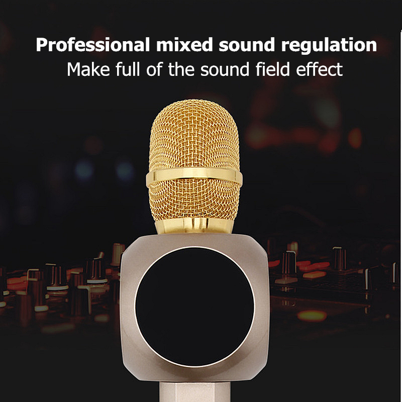 H6 Wireless bluetooth Microphone Magnetic Double Horn Loudspeaker Karaoke for Cell Phone