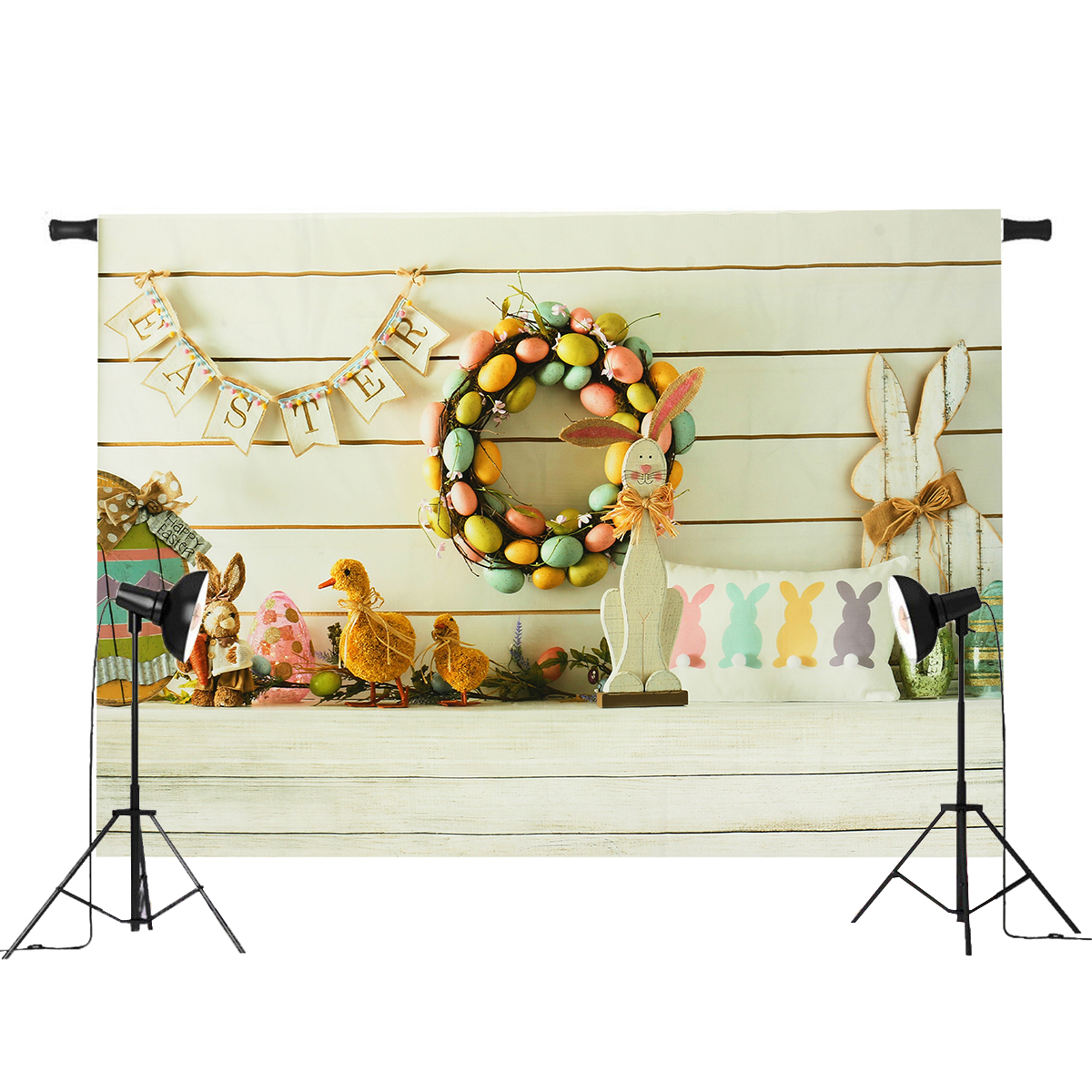 7x5ft/5x3ft Easter Duck Theme Thin Vinyl Photography Backdrop Background Studio Photo Prop
