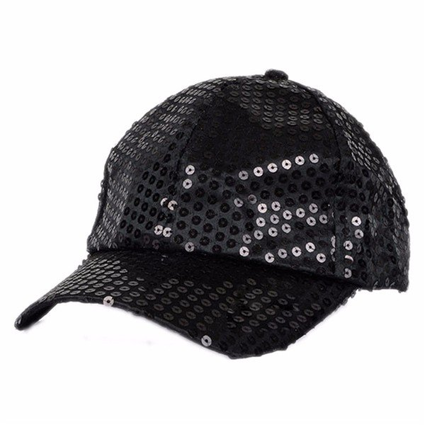 Men Women Kids Sequin Belly Jazz Dance Hip-hop Hat Adjustable Baseball Cap