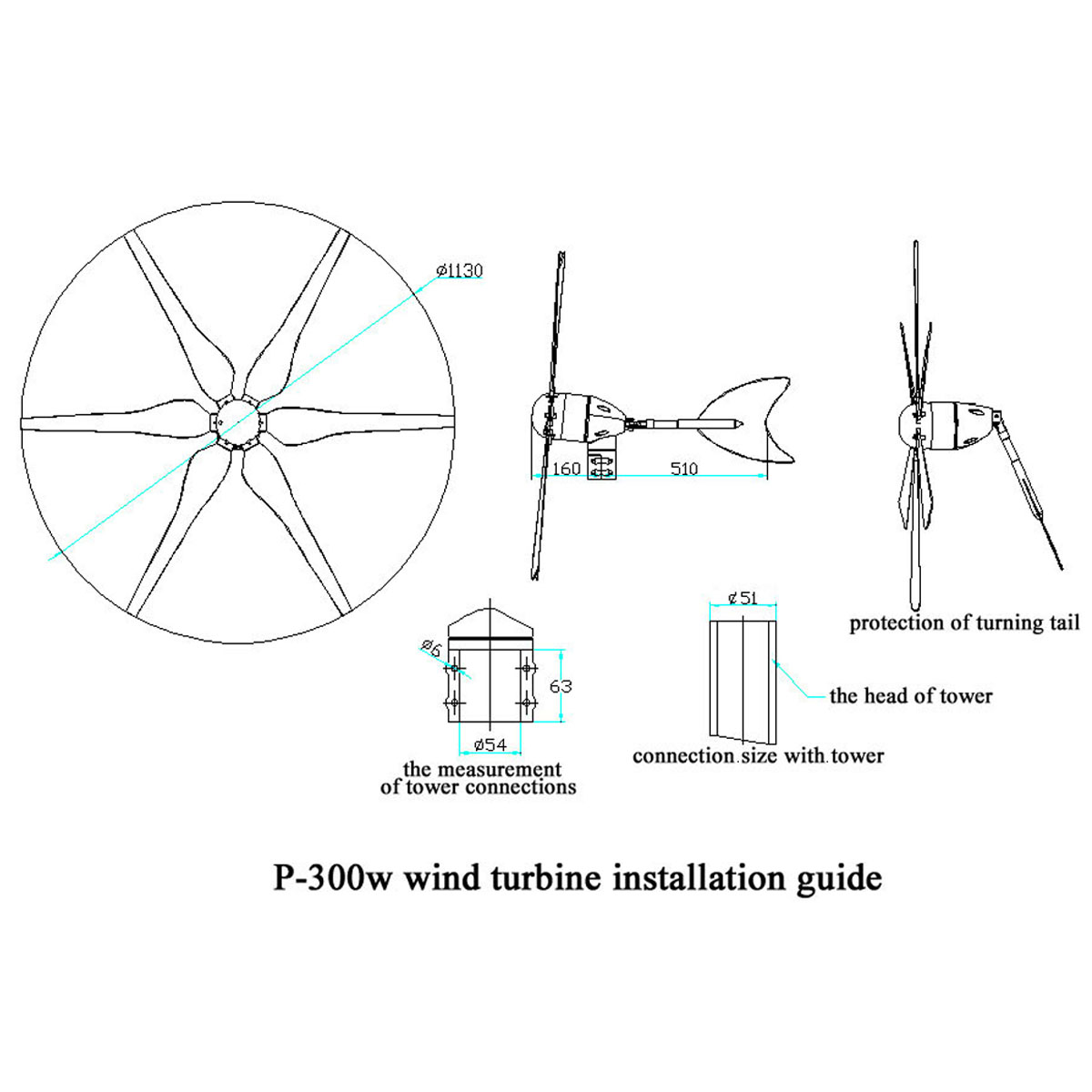 500w 6 Blades 12v 24v Wind Turbine Energy Power Generator Built Wire Diagram Shipping Methods