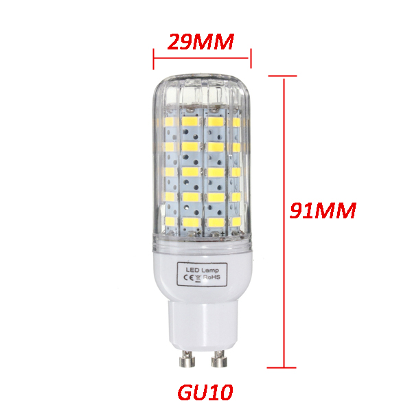 E27/E14/E12/B22/G9/GU10 Dimmable 6W AC220V LED Bulb White/Warm White 60 SMD 5730 Corn Light Lamp