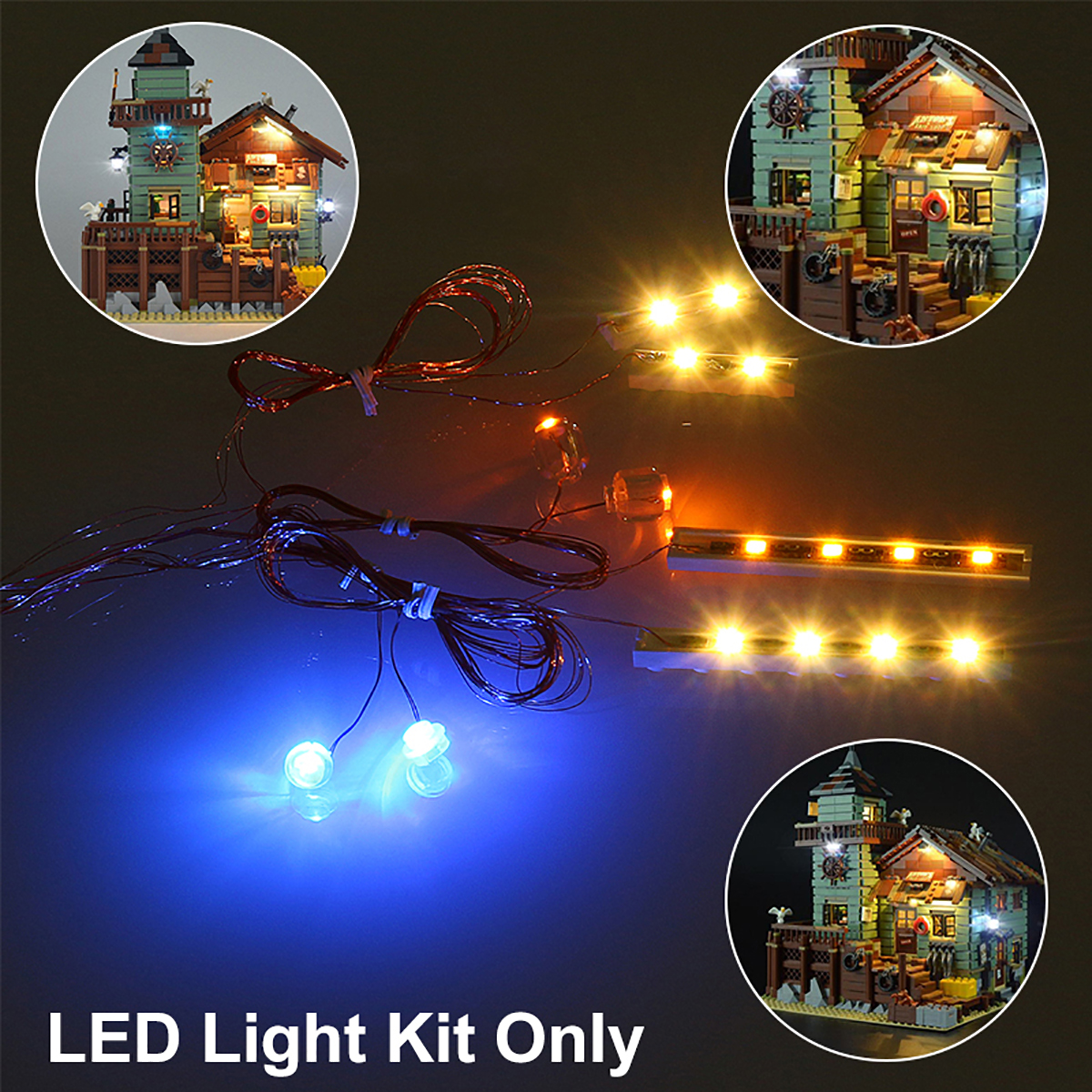 Light Up Kit For Lepin 16050 Old Fishing Store Building Model Light Parts For Blocks Toy Dollhouse