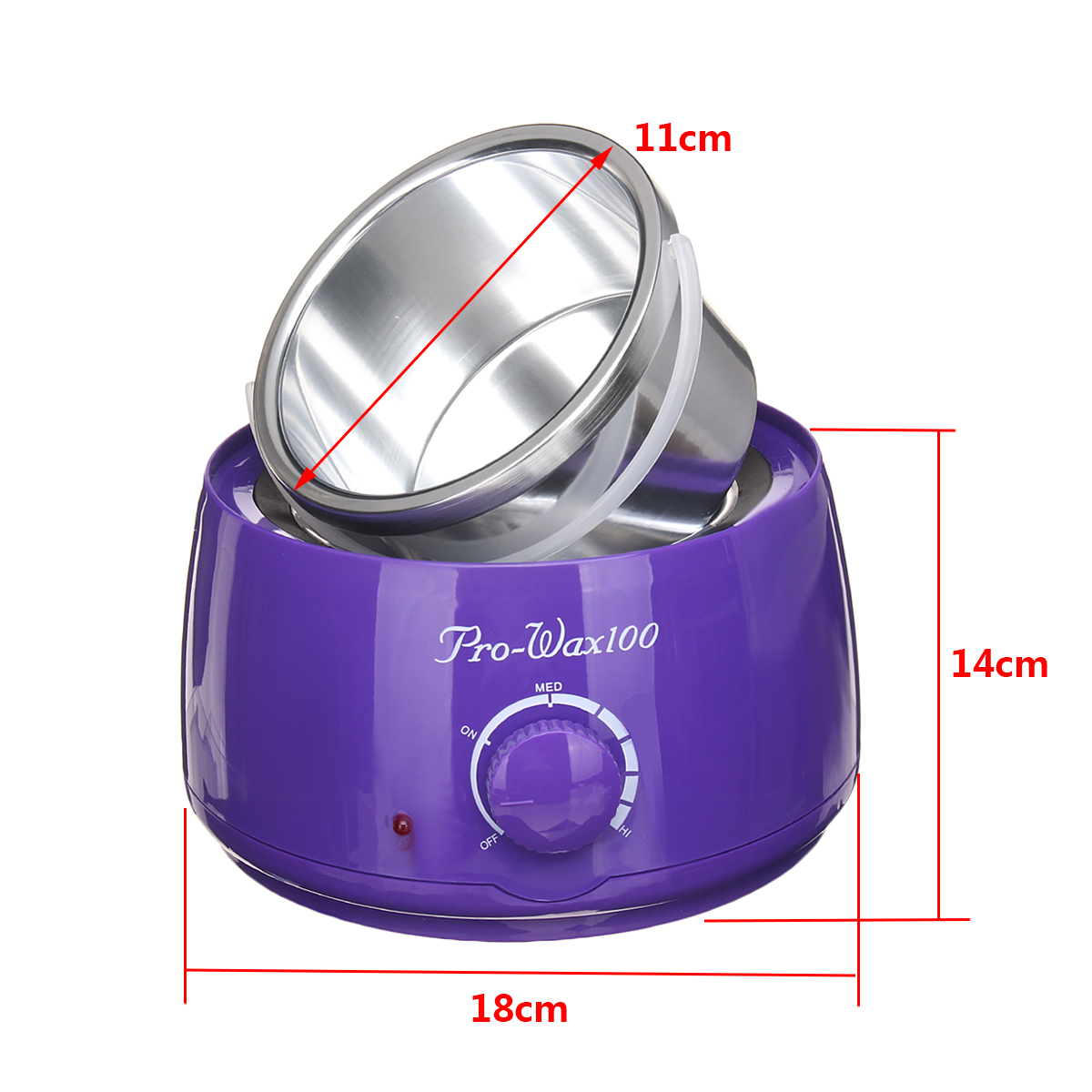 Hair Removal Wax Warmer Kit Wax Heater Machine 500cc 100g