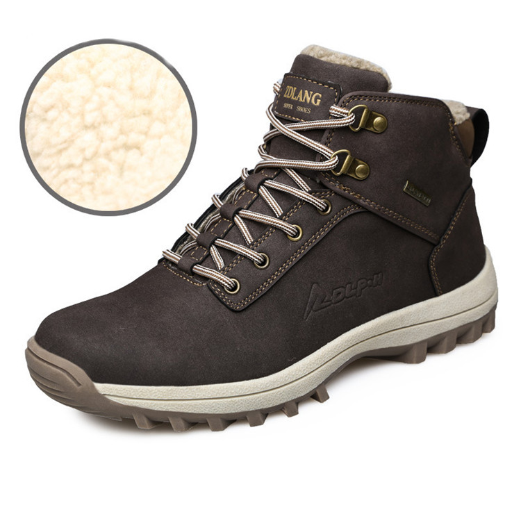 Men's Winter Snow Boots Outdoor Fashion Sneaker Super Warm Lining Non-Slip Climbing Shoes