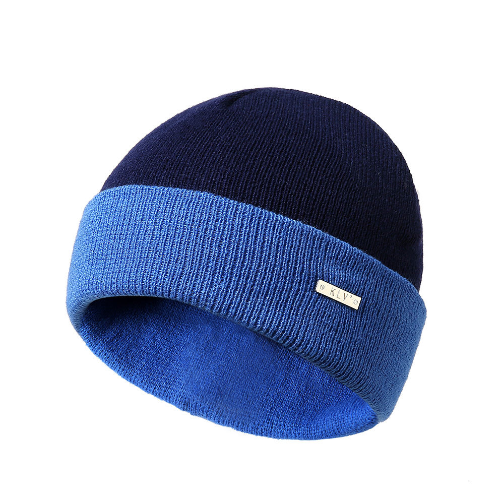 Winter Double-Sided Color Knit Hat Ski Skull Cap