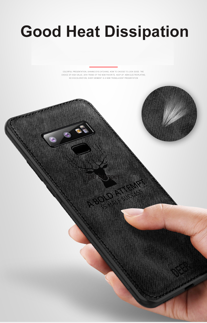 Bakeey Fabric Cloth Anti Fingerprint Protective Case For Samsung Galaxy Note 9/Note 8/S9/S9 Plus/S8/S8 Plus/S7/S7 Edge/A7 2018/A6 2018/A6+ 2018/A8 2018/A8+2018