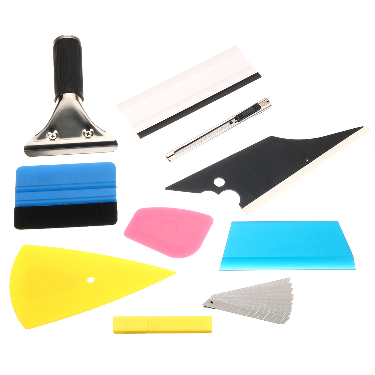 8 In 1 Squeegee Car Window Tinting Auto Film Install Wrapping Applicator Tools
