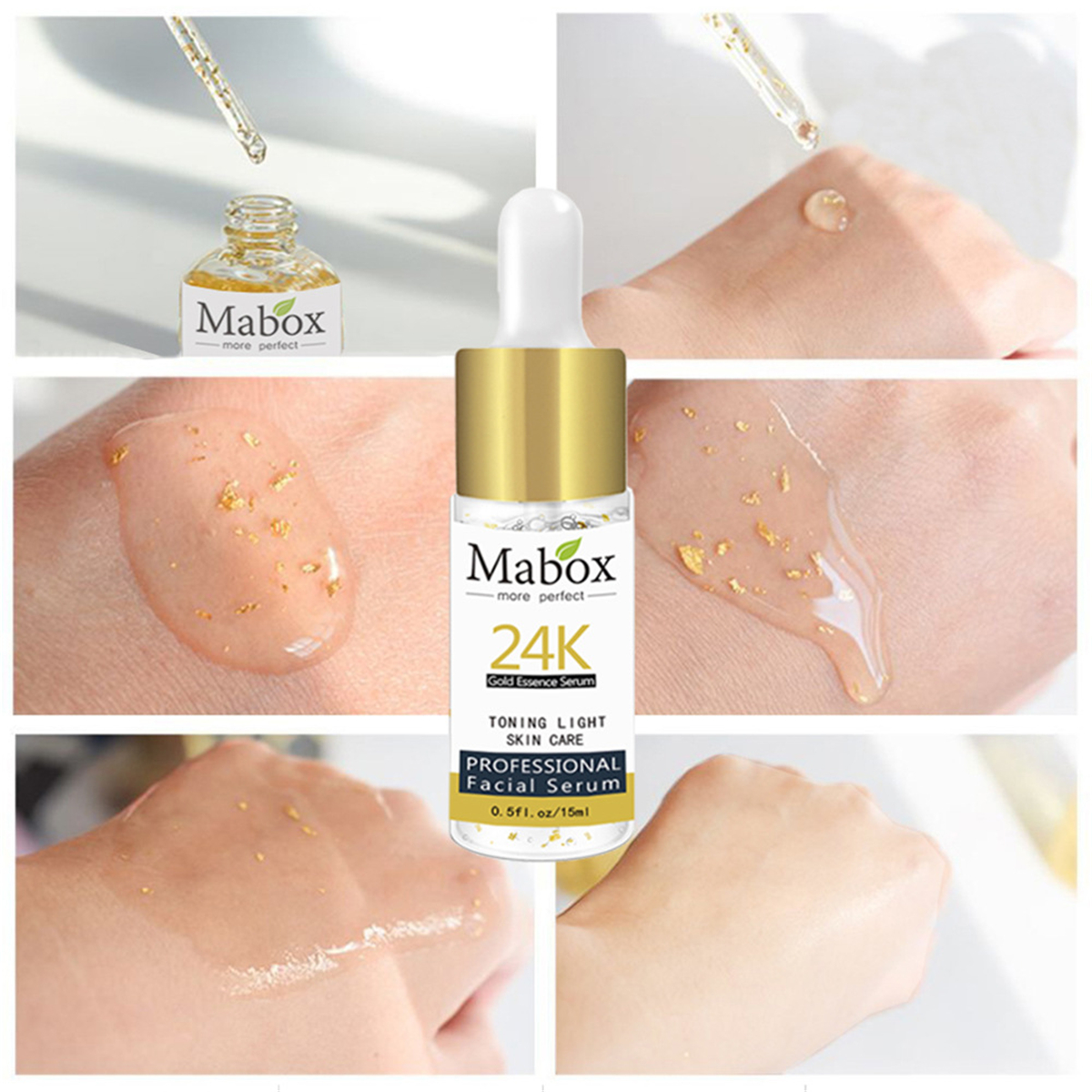 15ml Mabox 24K Gold Essence Serum Whitening