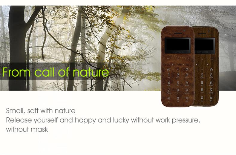 Soyes M11 0.96'' 300mAh bluetooth SOS Dialing Low Radiation Ultra Thin Pocket Mini Card Phone