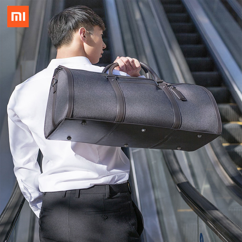 90 FUN Large Capacity Foldable Luggage Bag Waterproof Cylinder Handbag Suit Storage Duffel Shoulder Bag Pack for Travel Business Outdoor From Xiaomi Youpin