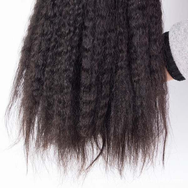 1 Bundle Kinky Straight 100% Brazilian Human Virgin Hair