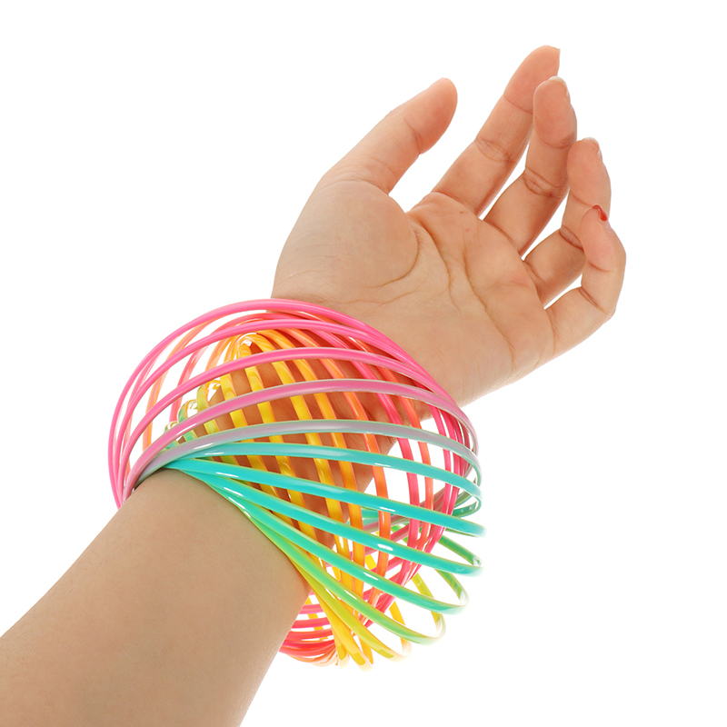 PVC Rainbow Flow Rings Magic Bracelet Flowtoys Exercise Artifact Creative Toys Gift