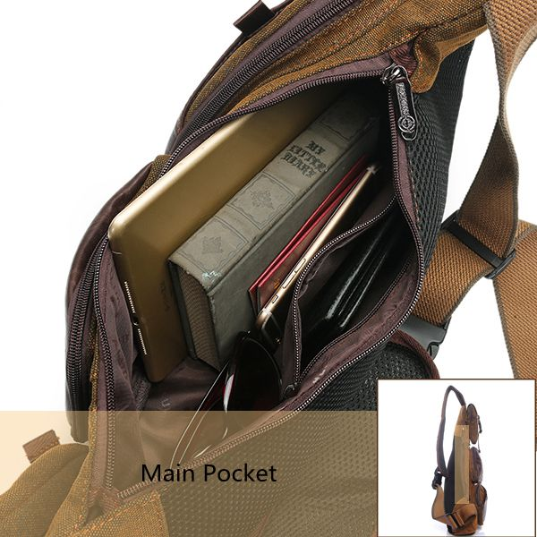 d8891eda3ca1 men canvas travel hiking riding crossbody shoulder bag at Banggood