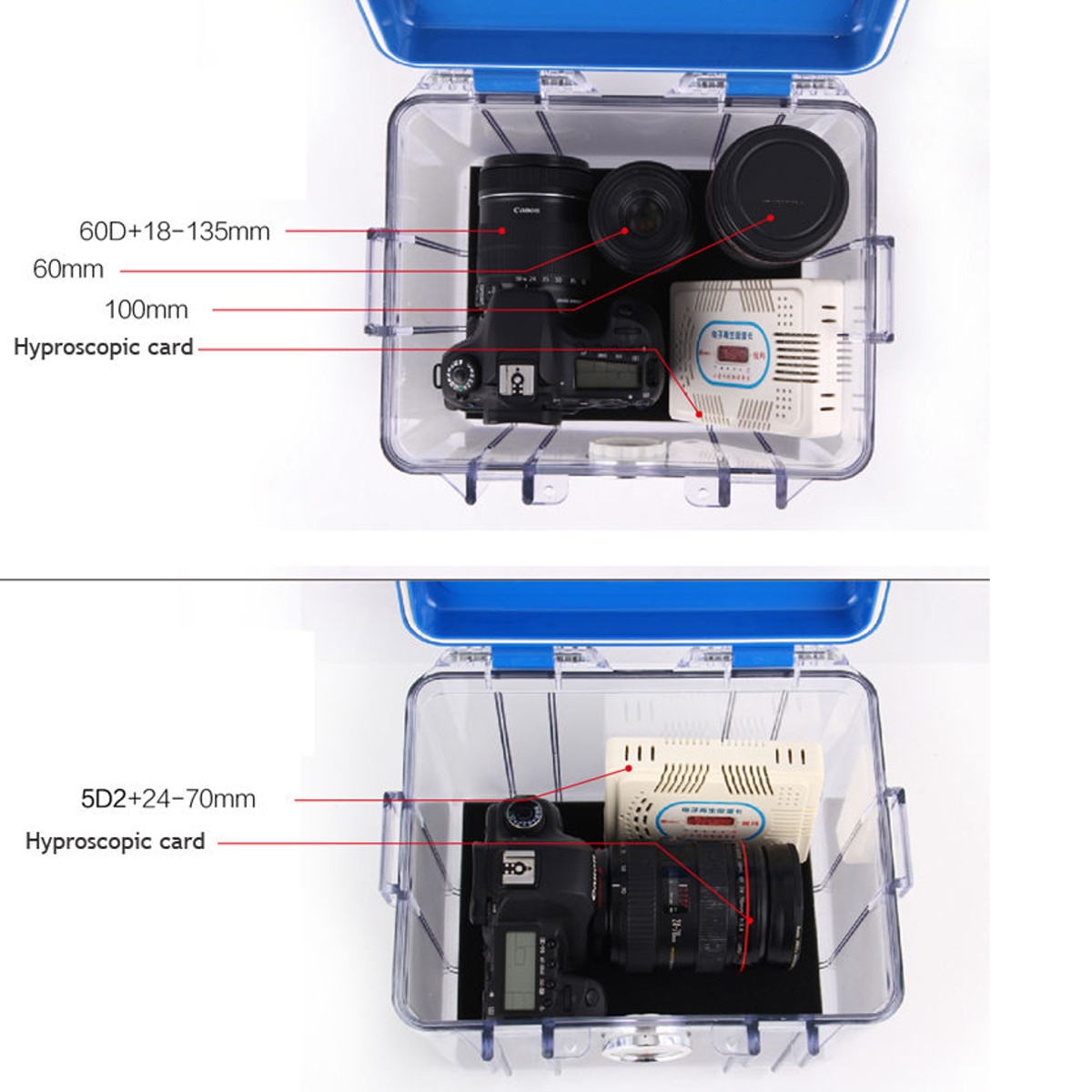 Waterproof Dry Moistureproof Anti-shock Storage Seal Box for DSLR Camera Lens