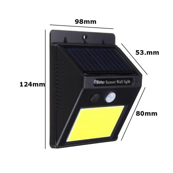 ARILUX® AL-SL17 Solar Power 48 LED PIR Motion Sensor Light Waterproof Outdoor Garden Wall Lamp