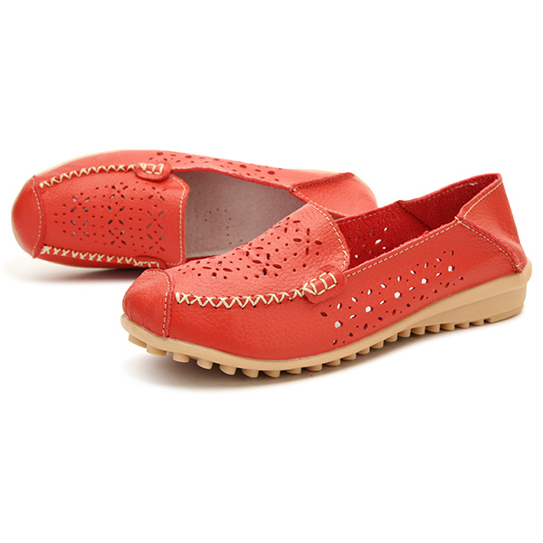Women Flats Casual Comfortable Soft Round Toe Hollow Out Flat Loafers Shoes