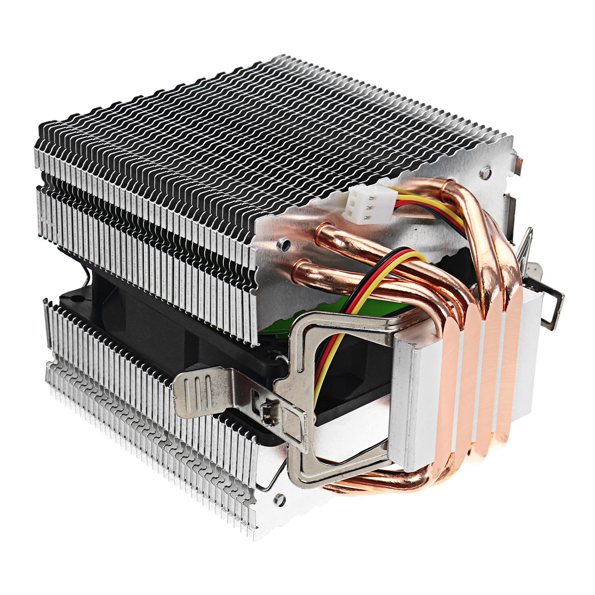 DC 12V 3Pin 2200RPM CPU Cooling Fan Cooler Heat Sink For Intel AMD