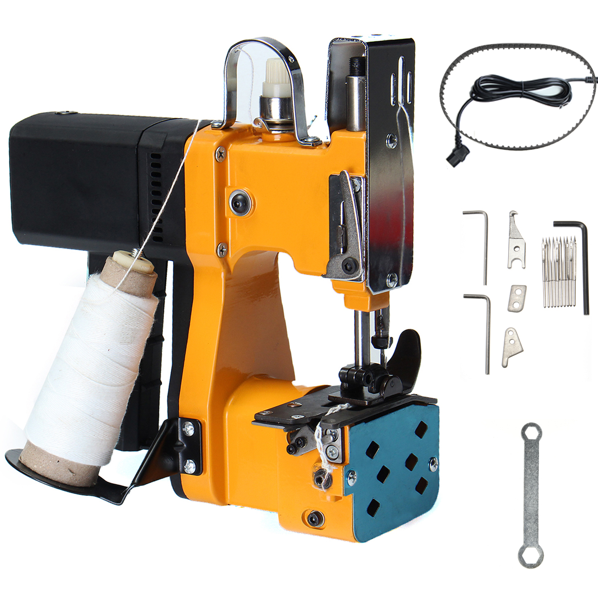 220V Portable Electric Sewing Machine Seal Ring Machines Industrial Cloth Tools