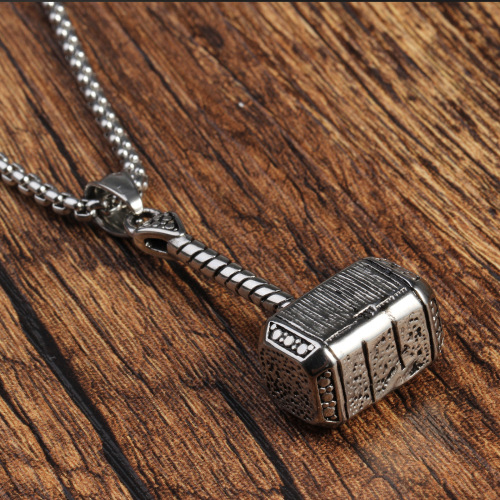 Stainless Steel Cool Hammer Quake Pendant Charm For Necklace Birthday Gift
