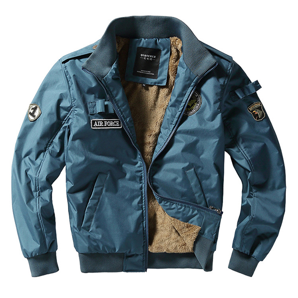 Fashion Bomber Jacket Fleece Thick Warm Flight Jackets
