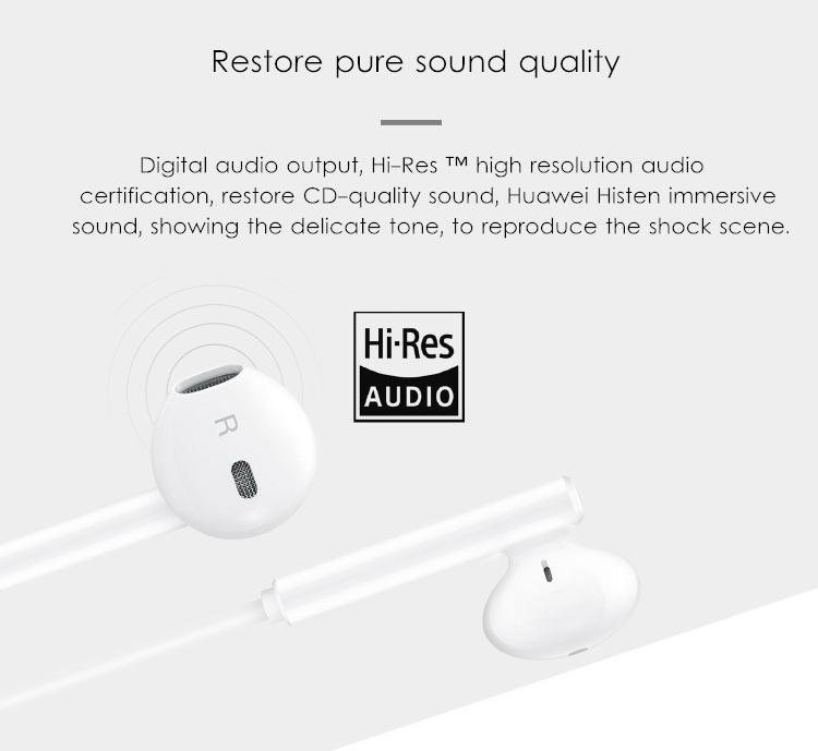 Huawei Hi-Res USB Type-C Earphone Wired Control Headphone for Huawei Mate 10 Samsung S8 Xiaomi 6 5