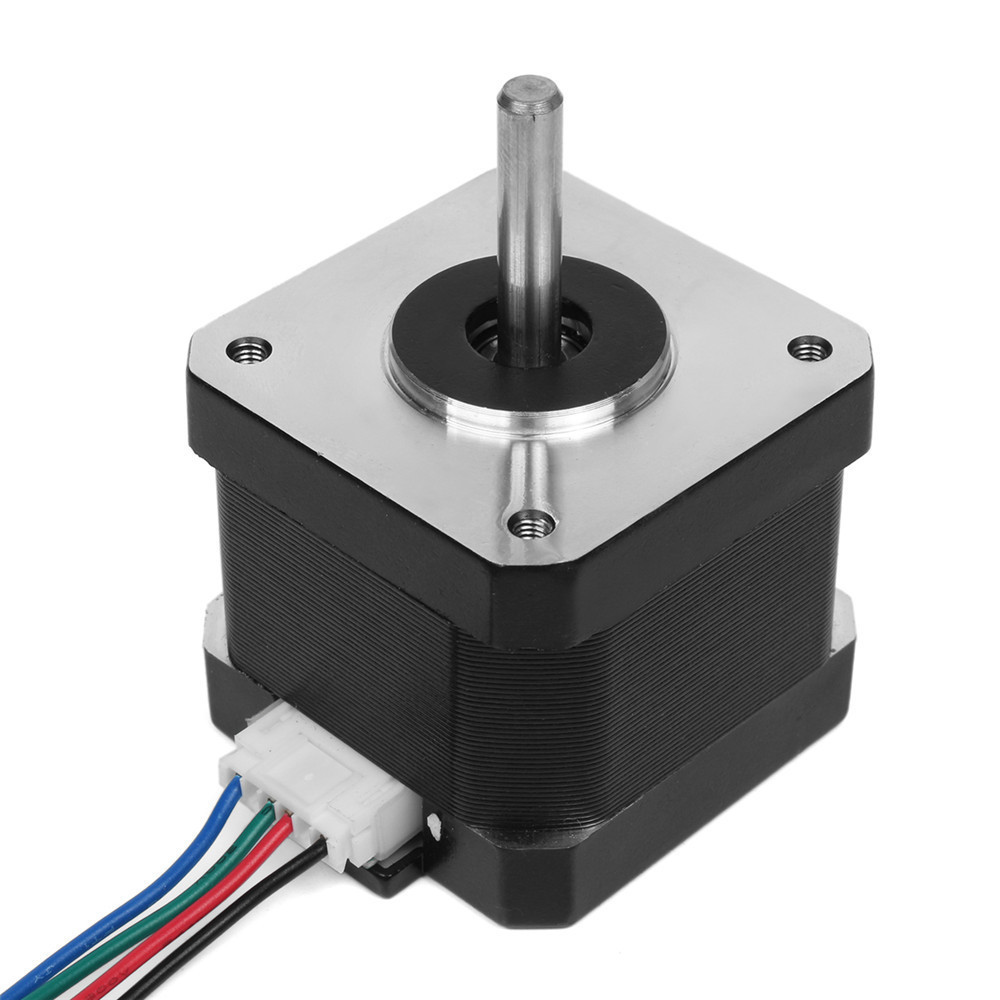 Machifit NEMA17 Stepper Motor with 400mm T8 Lead Screw Mounted Ball Bearing and Shaft Coupling