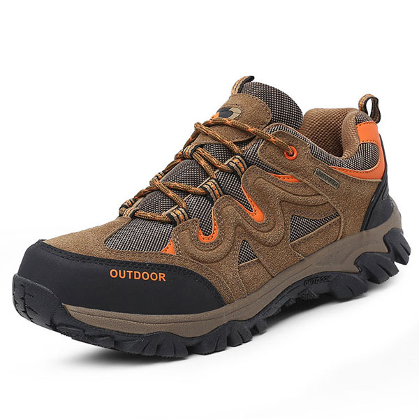 Big Size Men Comfortable Wear Resistant Outsole Outdoor Hiking Athletic Shoes