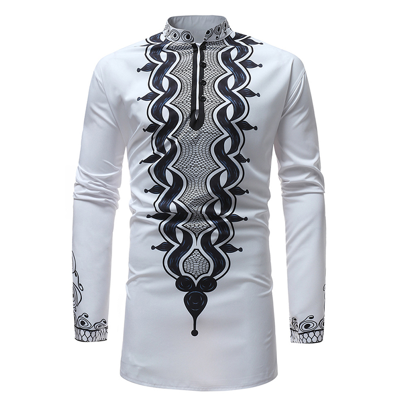 Men's African Style Loose Printing Casual T-shirts