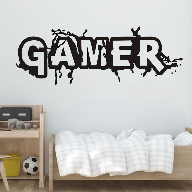 Wall Room Decor Art Vinyl Sticker Mural Decal Gamer Word Game Home