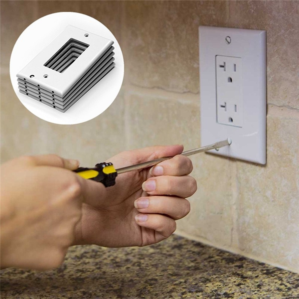 110V LED Light Control Wall Outlet Cover Plate Night Light Hallway Kitchen Emergency Safety Lamp